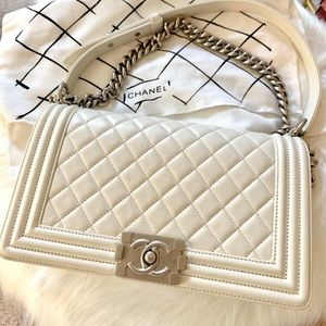 Chanel Le Boy Bag Medium Size Flap Bag